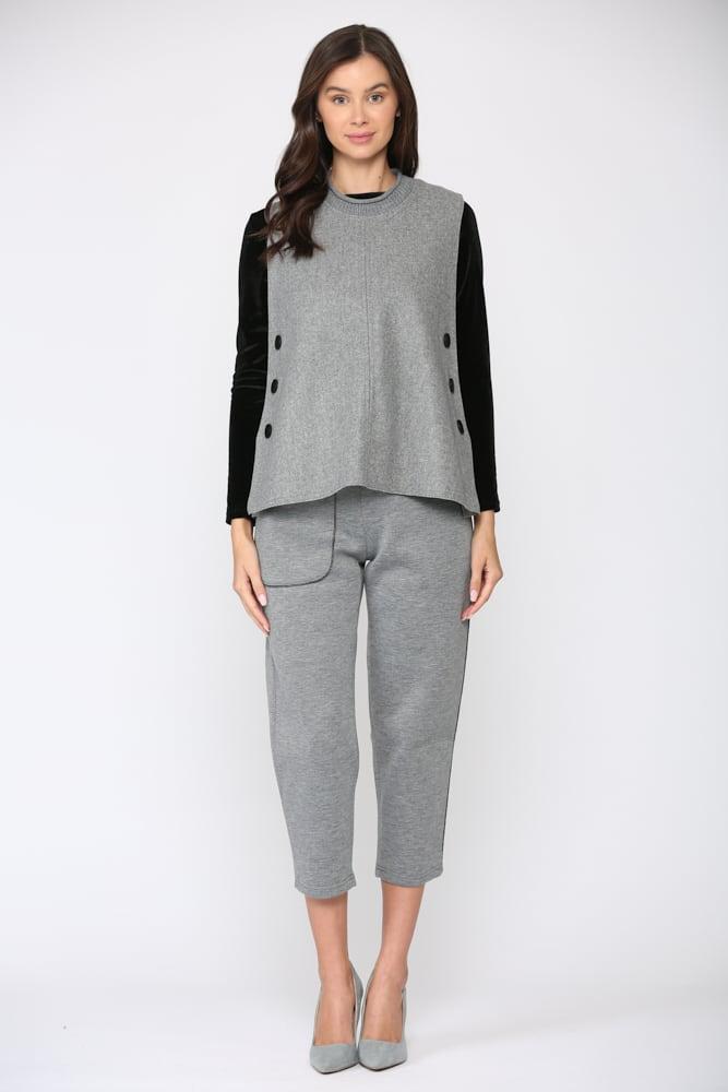 Felecia Vest - Gray - Front