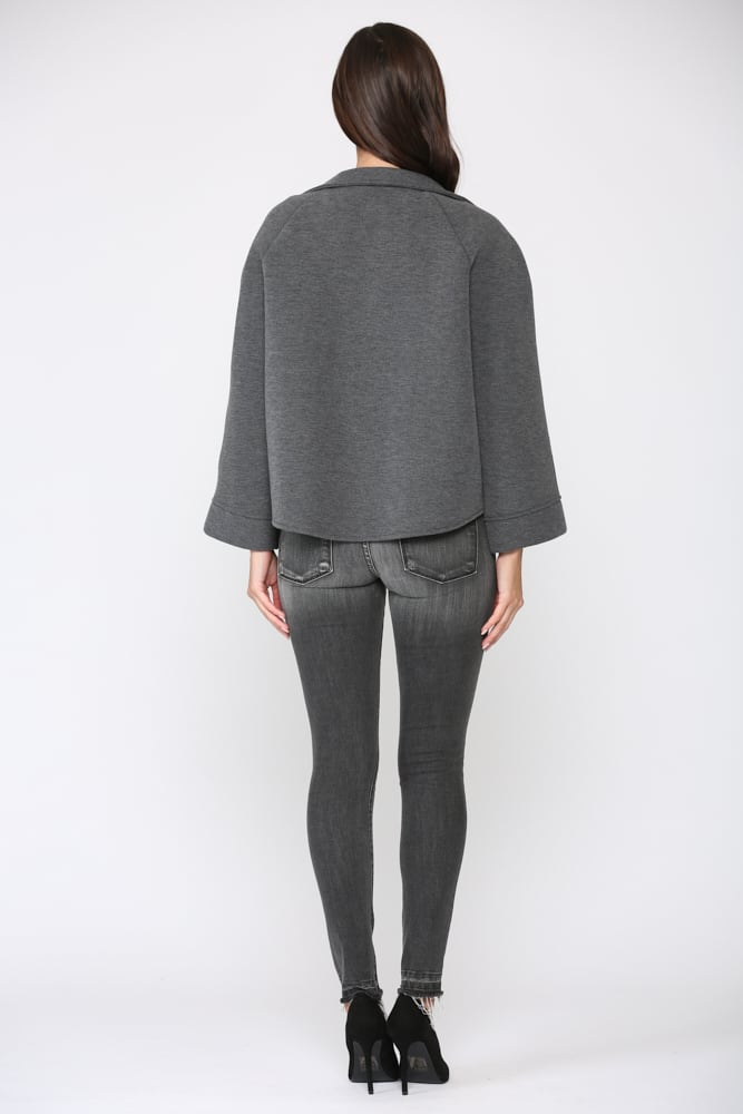 Fannie Jacket - Charcoal - Back