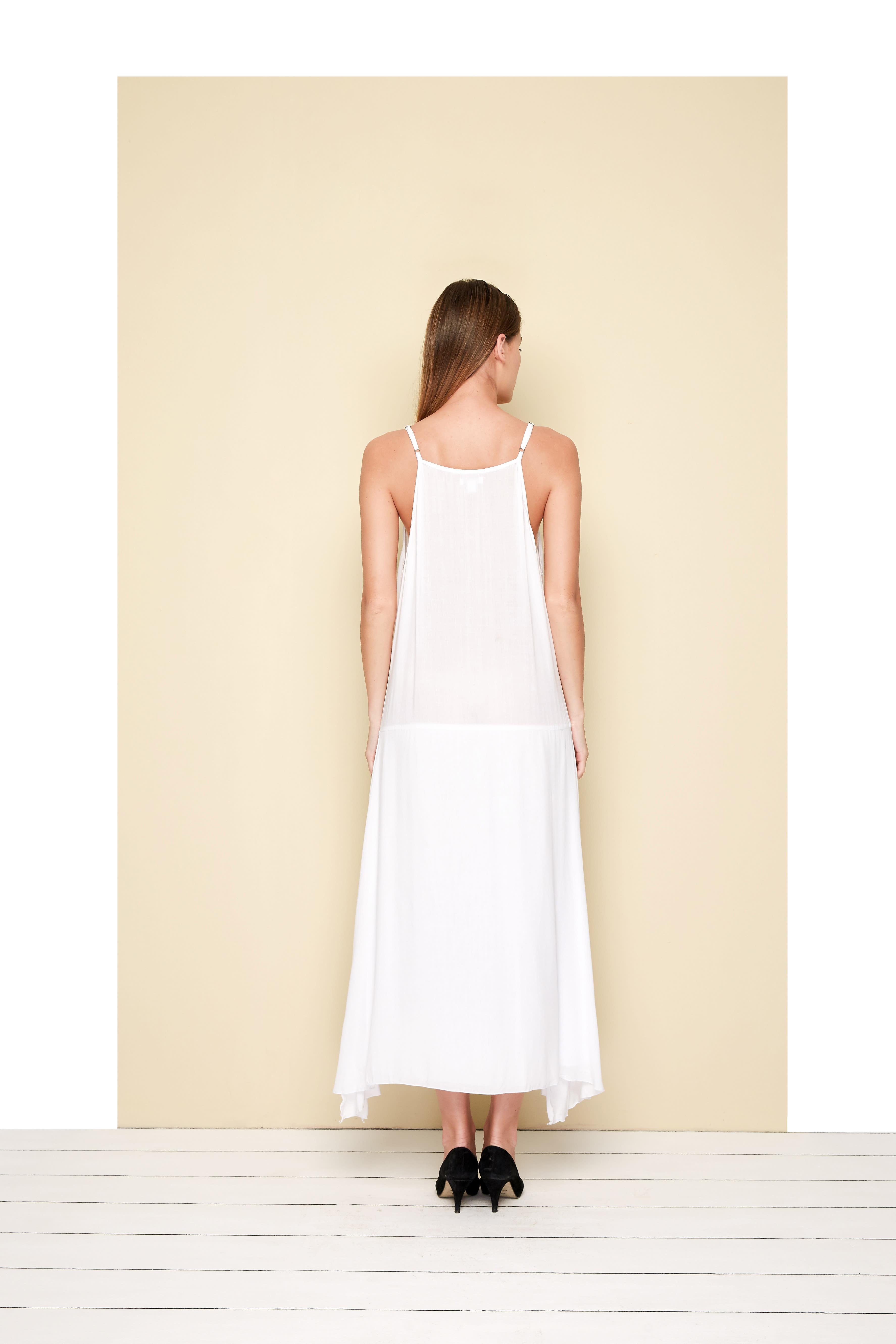 Toscana Dress - White - Back