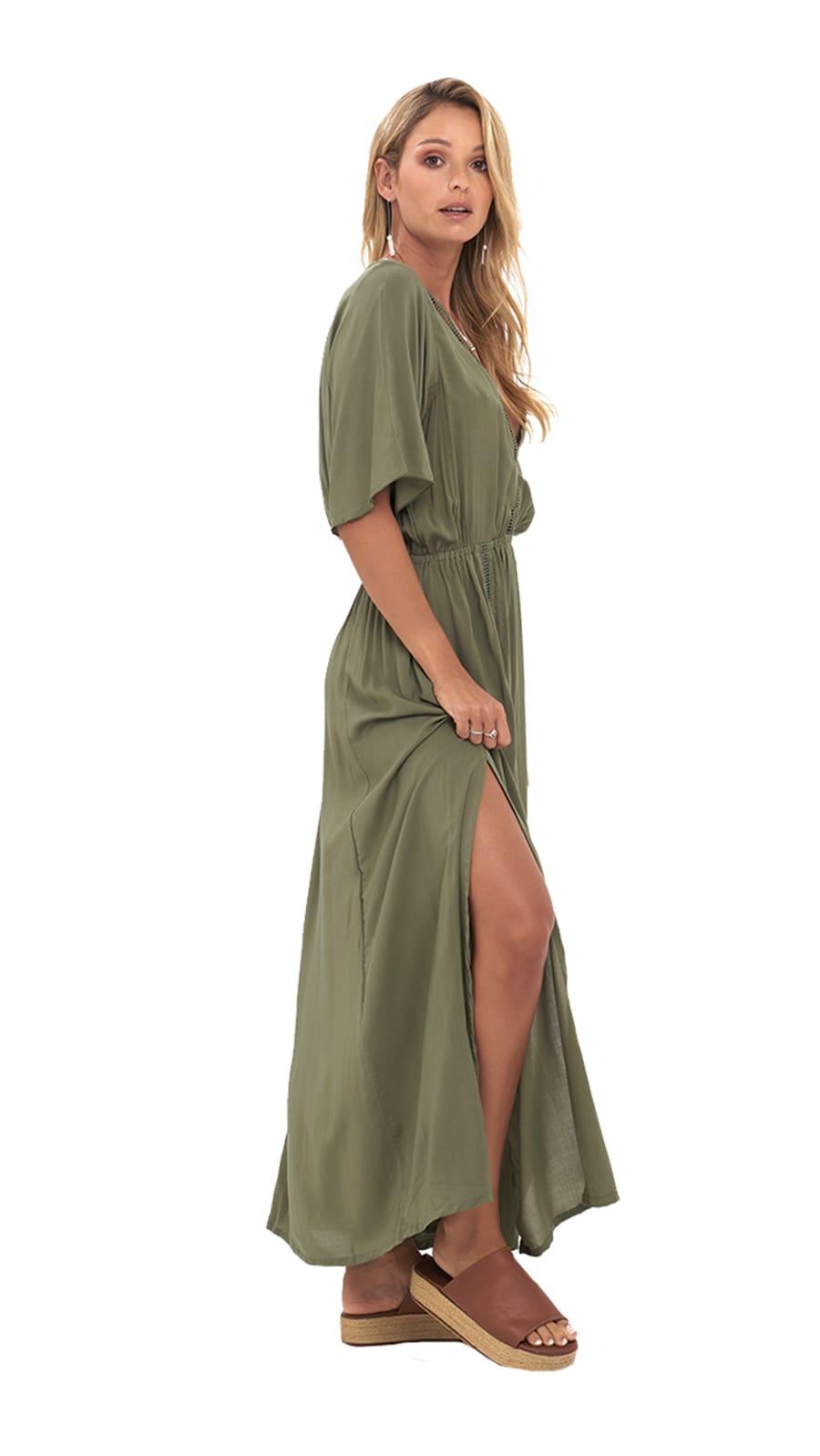 Moara Dress - Army - Back