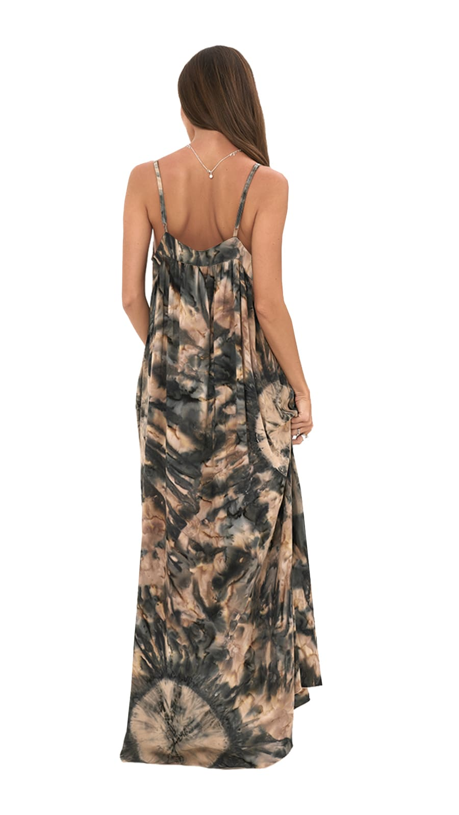 Alohi Dress - Tie Dye-Kahlua - Back