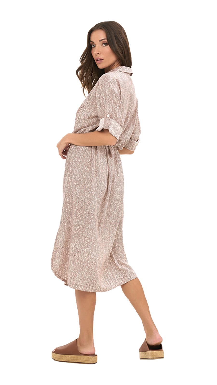 Amandy Dress - Birch-Dust - Back
