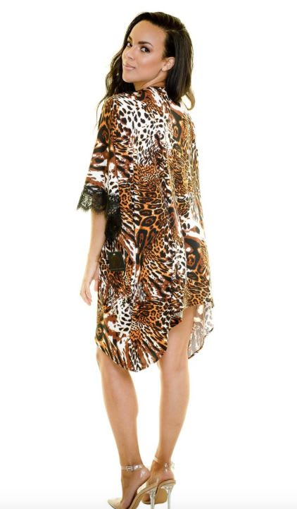 Wild Cat swim coverup - Multi - Back