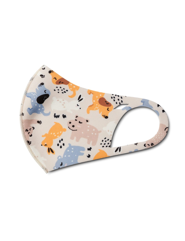 Kids' Animal Party Anti-Bacterial Fashion Face Mask - Multi - Detail