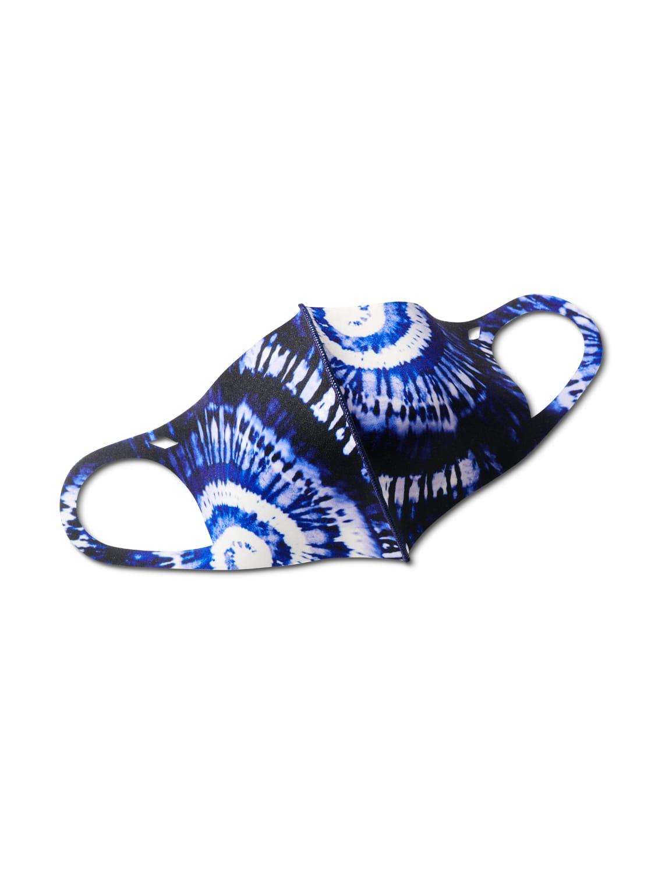 Ocean Blues Tie Dye Anti-Bacterial Fashion Face Mask - Blue - Front