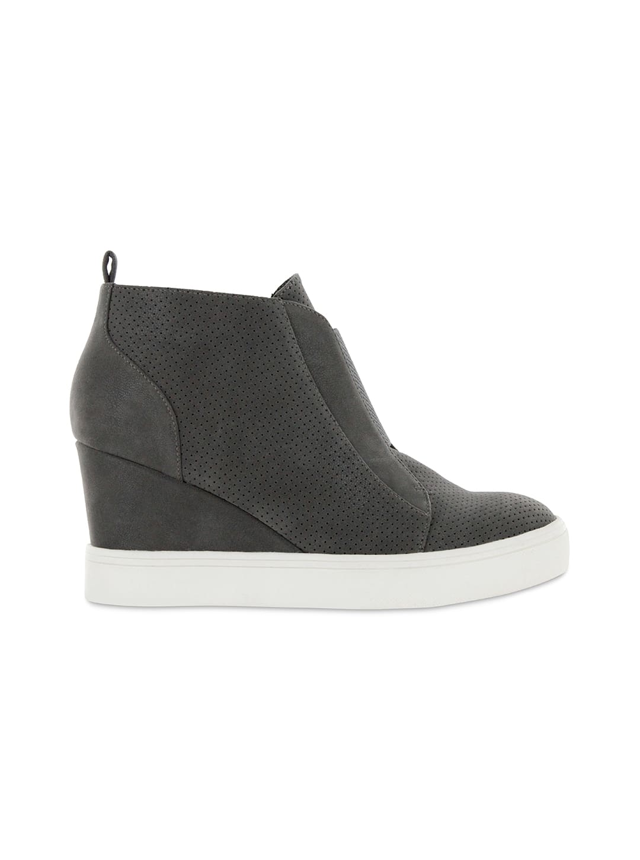 Mia Cristie Wedge Sneaker - grey - Back