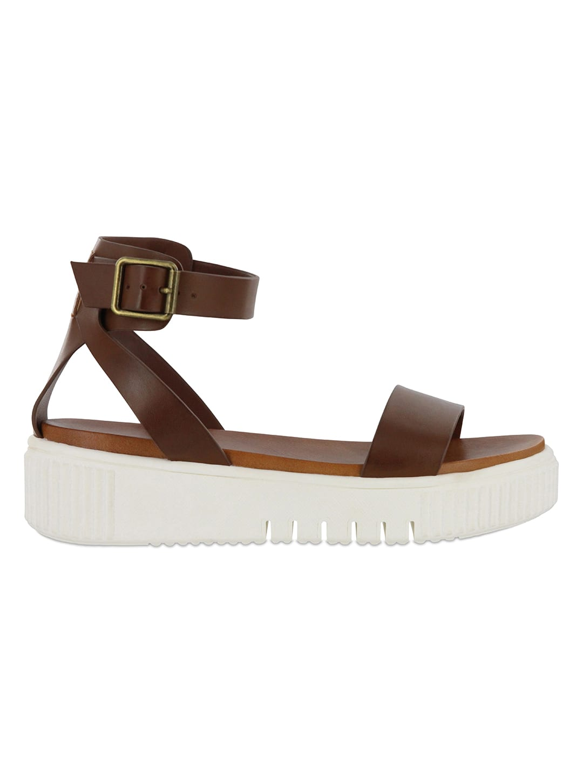 Mia  Lunna Platform Sandal - Cognac - Back
