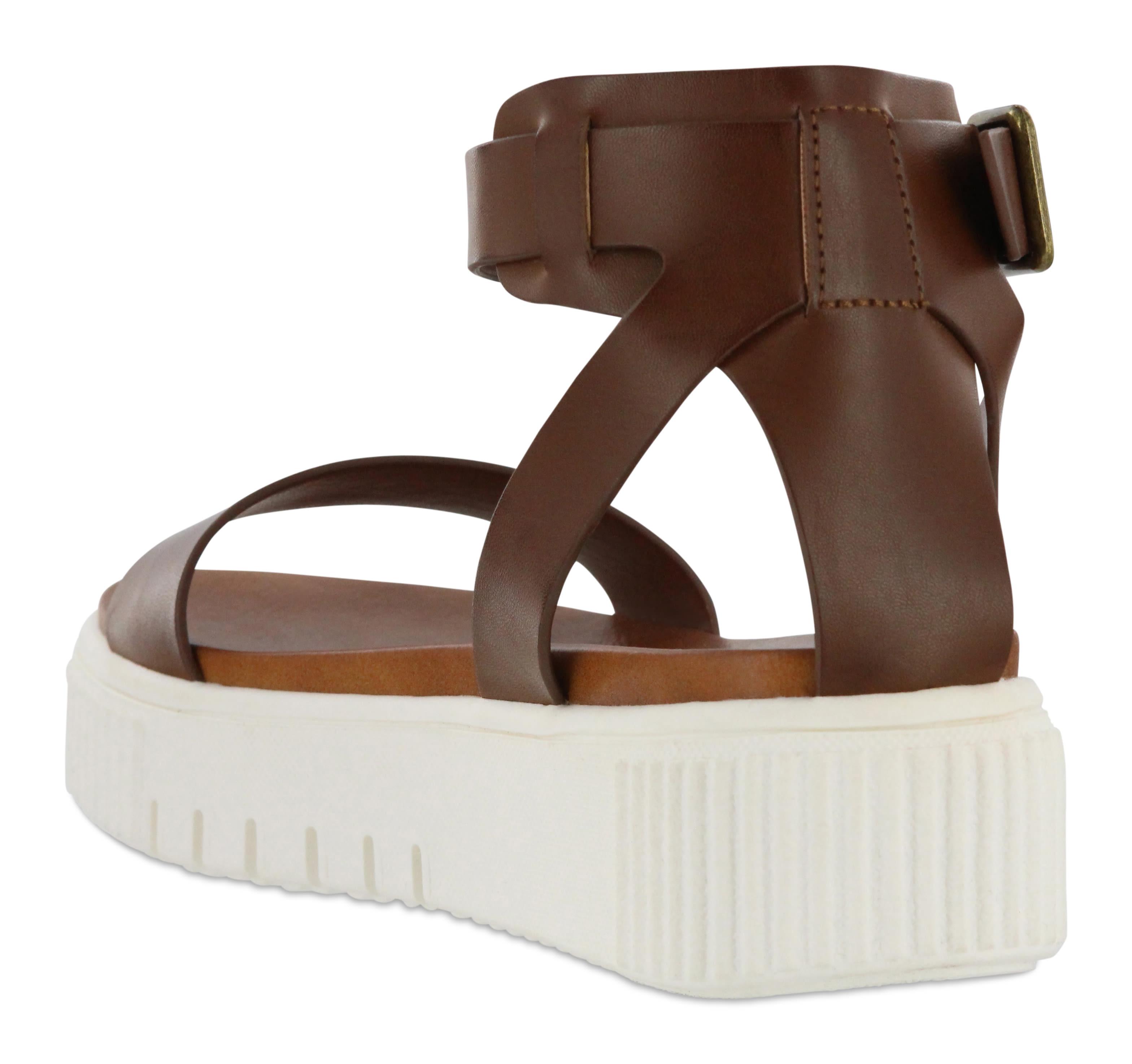 Mia  Lunna Platform Sandal - Cognac - Detail