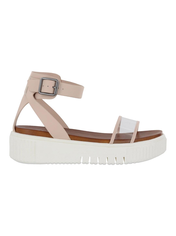 Mia Lunna Lucite Platform Sandal - blush/lucite - Back