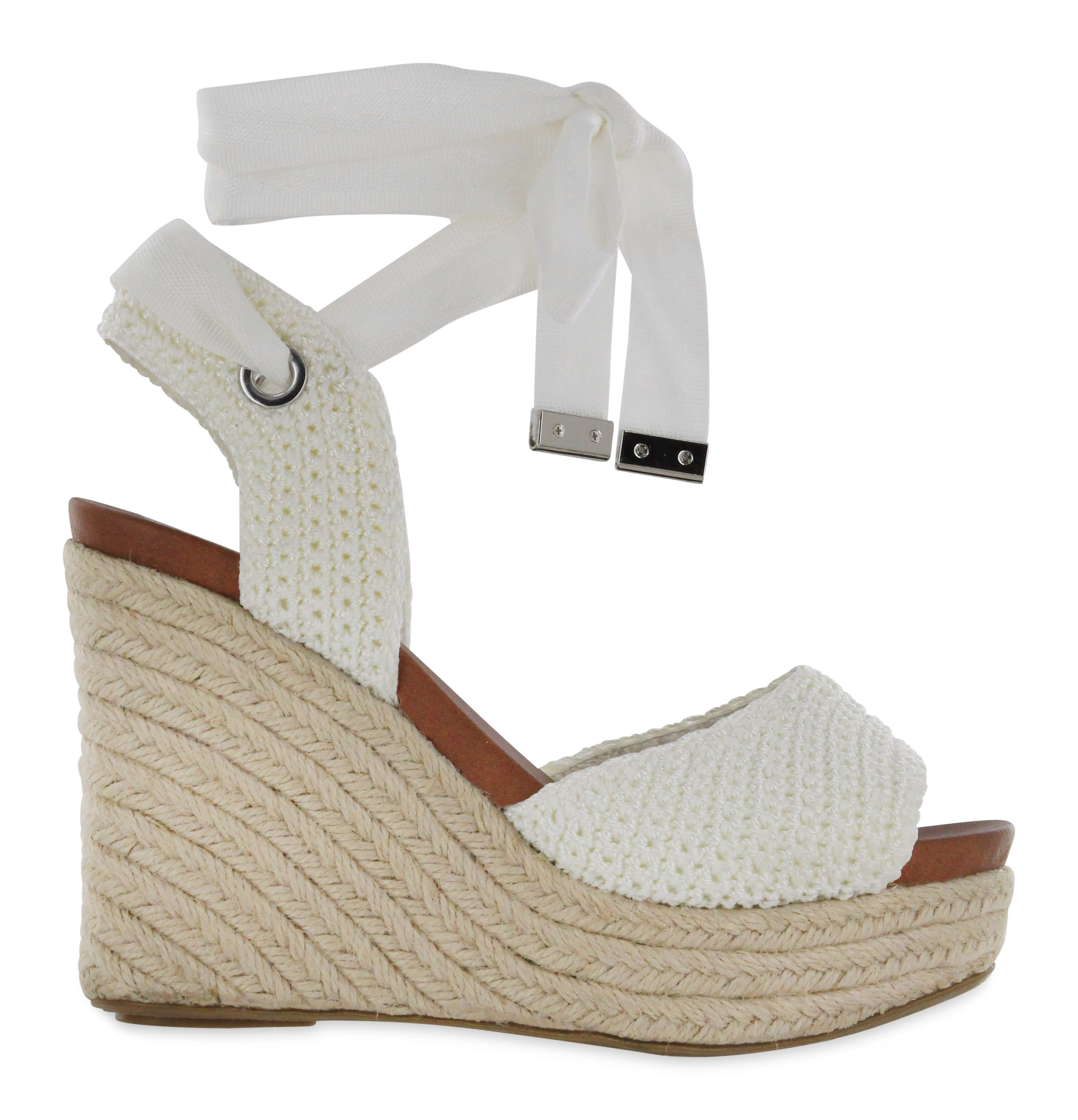 Mia Yanet Espadrille Wedge Sandal - white - Back