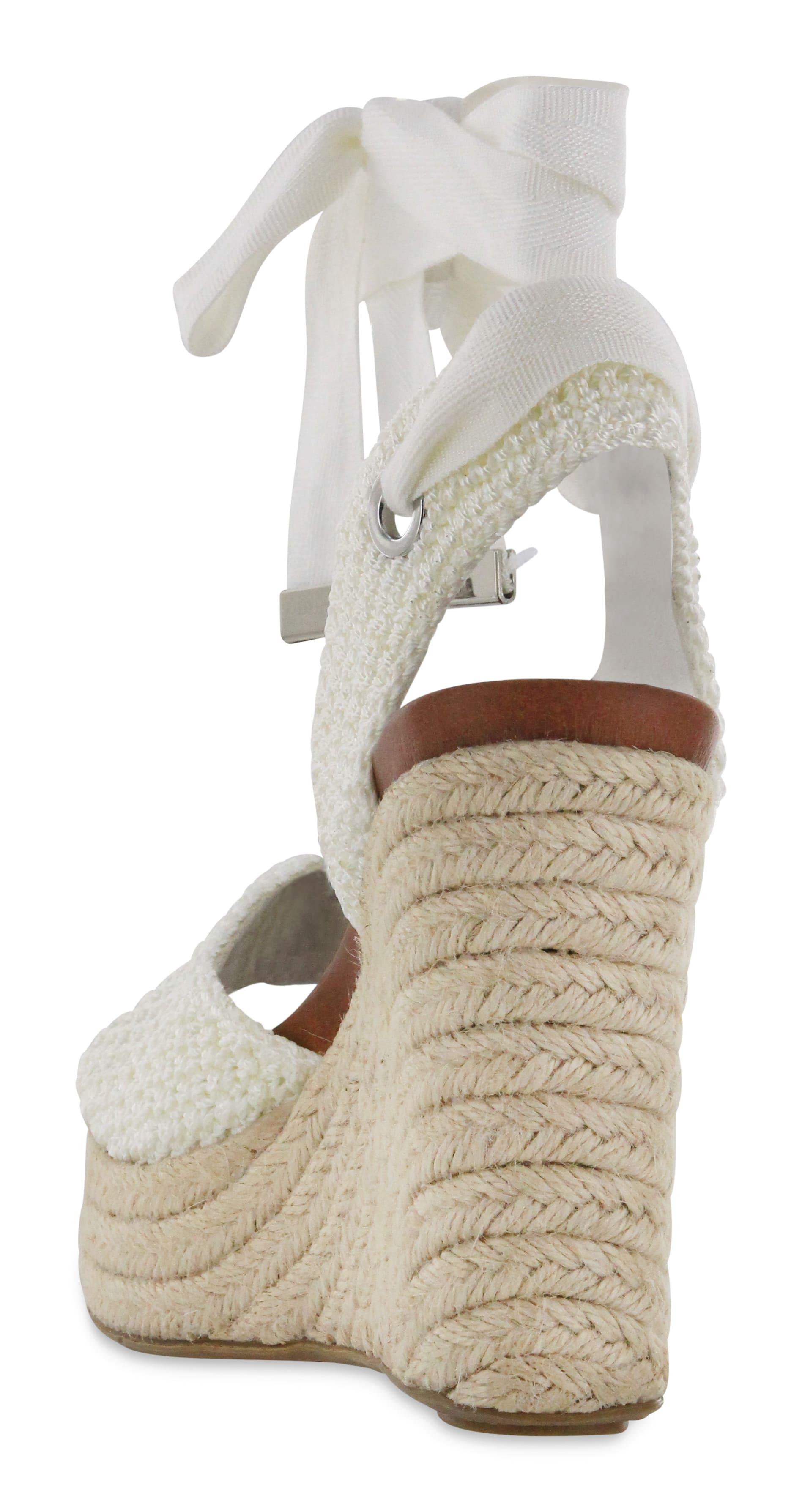 Mia Yanet Espadrille Wedge Sandal - white - Detail