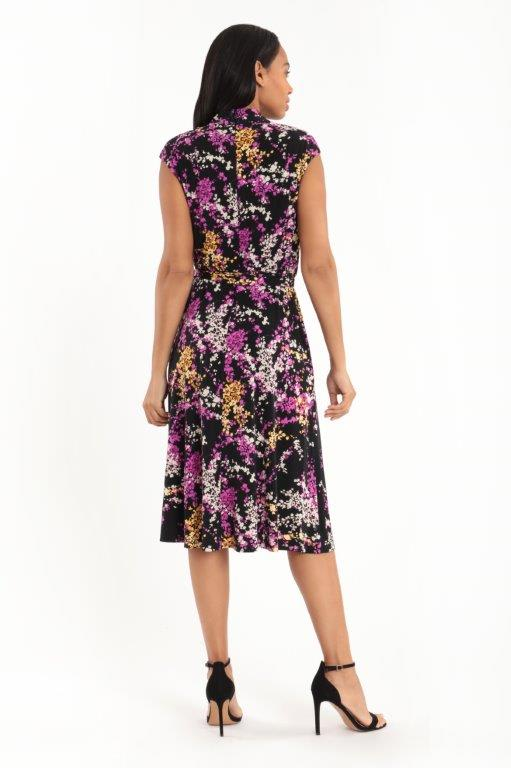 Wrap Anna Dress - lack/Purple - Back