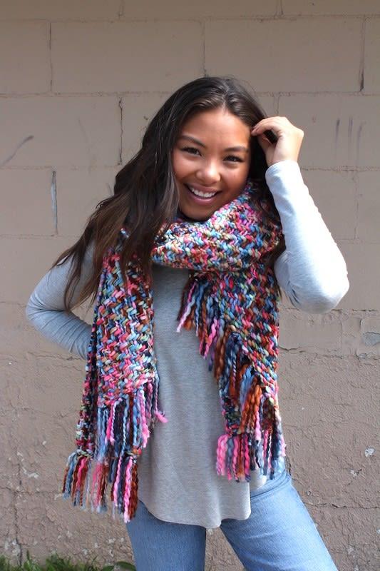Winter Wonderland Extravaganza Neckscarf - Pink - Back