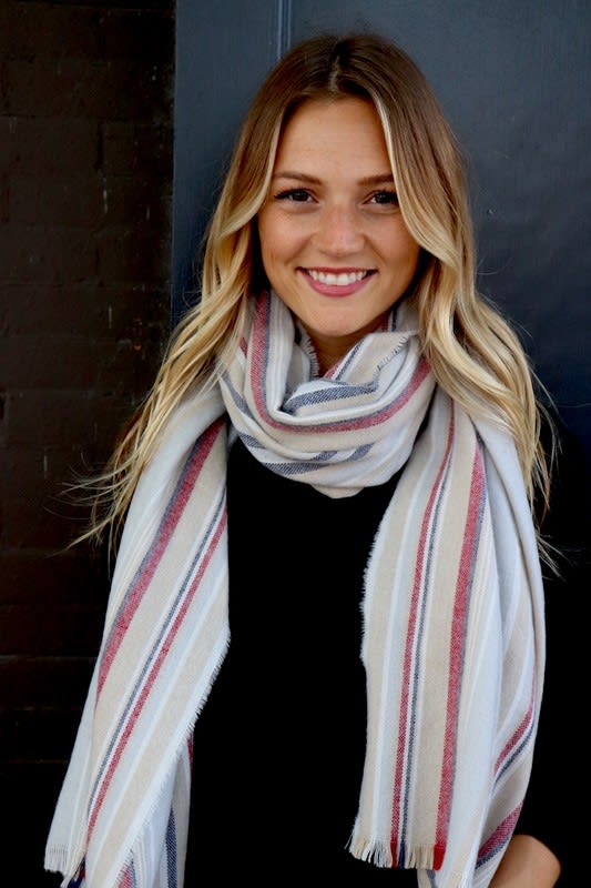 Mellow Infinity Neck Scarf with Embellishments - Grey - Back