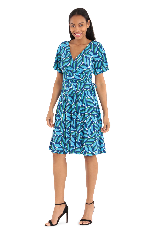 Cobalt Dress W/ Short Sleeves - Misses - Cobalt - Front