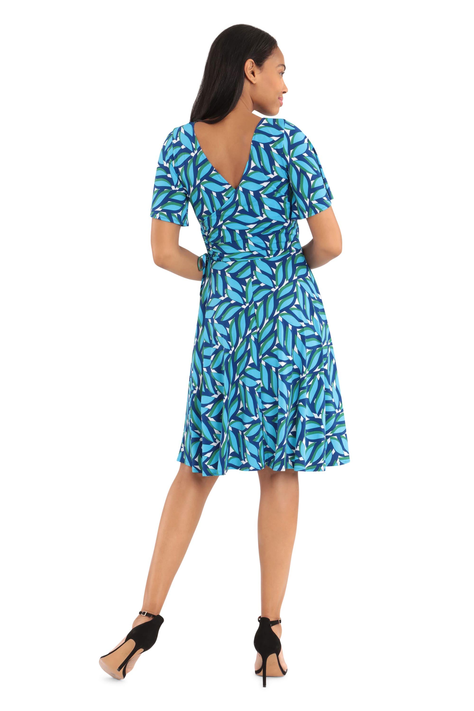 Cobalt Dress W/ Short Sleeves - Misses - Cobalt - Back