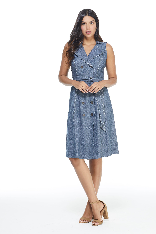 Maggy London Laura Dress - Misses - Denim - Front