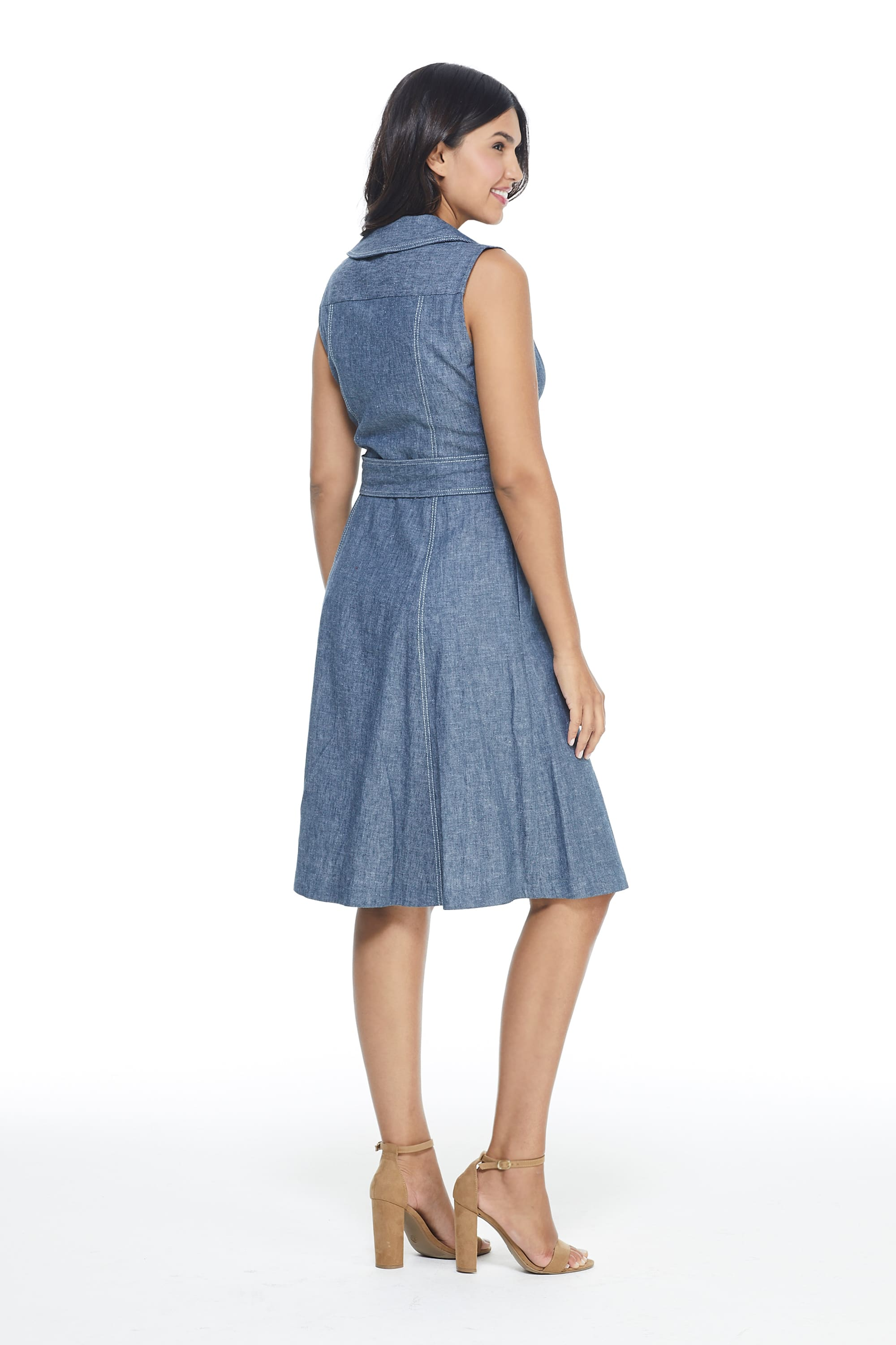 Maggy London Laura Dress - Misses - Denim - Back