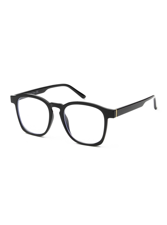 Sleek Square Sunglasses - Black - Back
