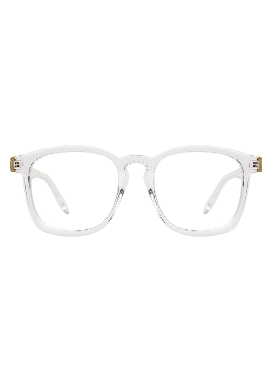 Sleek Square Sunglasses - Clear - Front