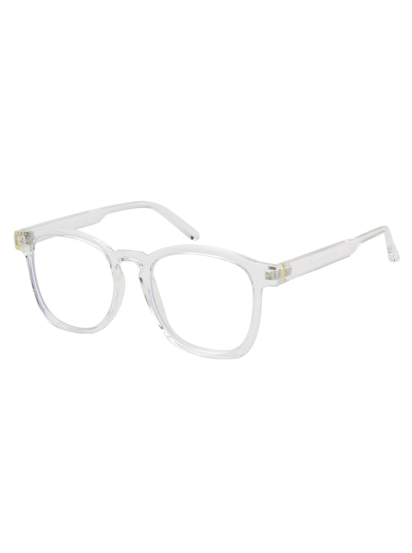 Sleek Square Sunglasses - Clear - Back