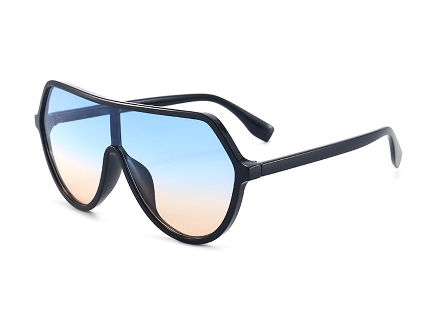 Larger Than Life Aviators - Blue gradient to peach - Back