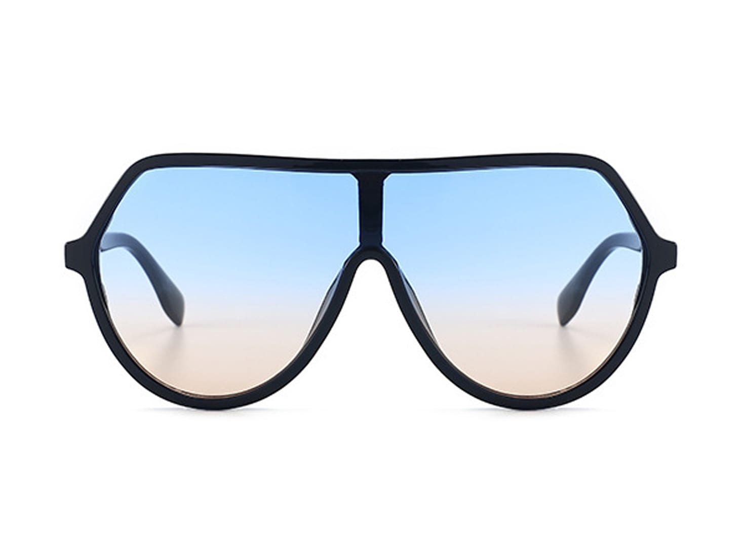 Larger Than Life Aviators - Blue gradient to peach - Front