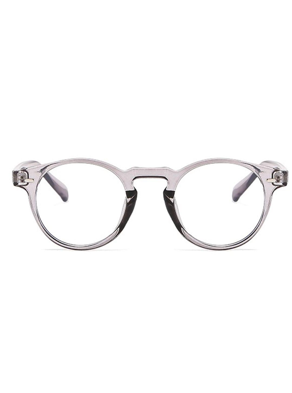 Vintage Round Glasses - Grey - Front