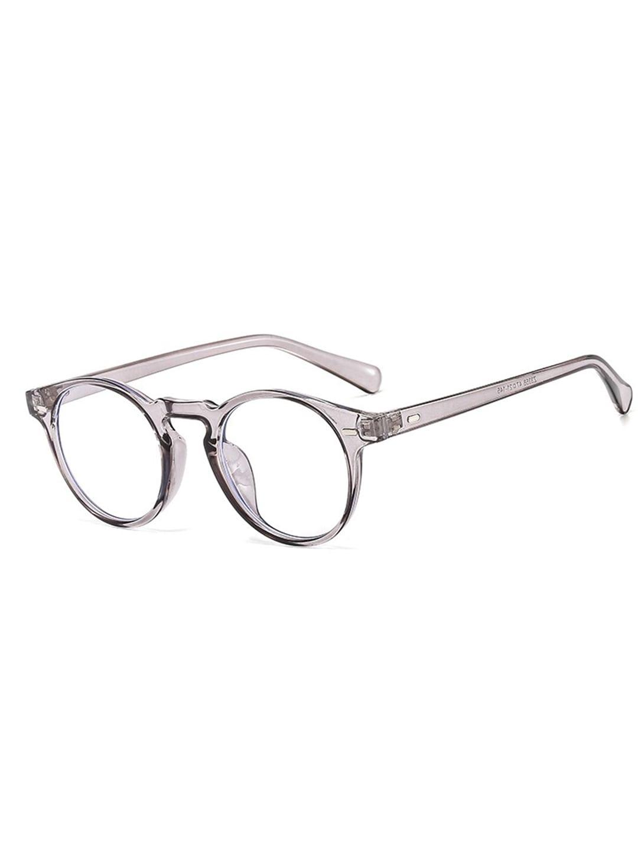 Vintage Round Glasses - Grey - Back