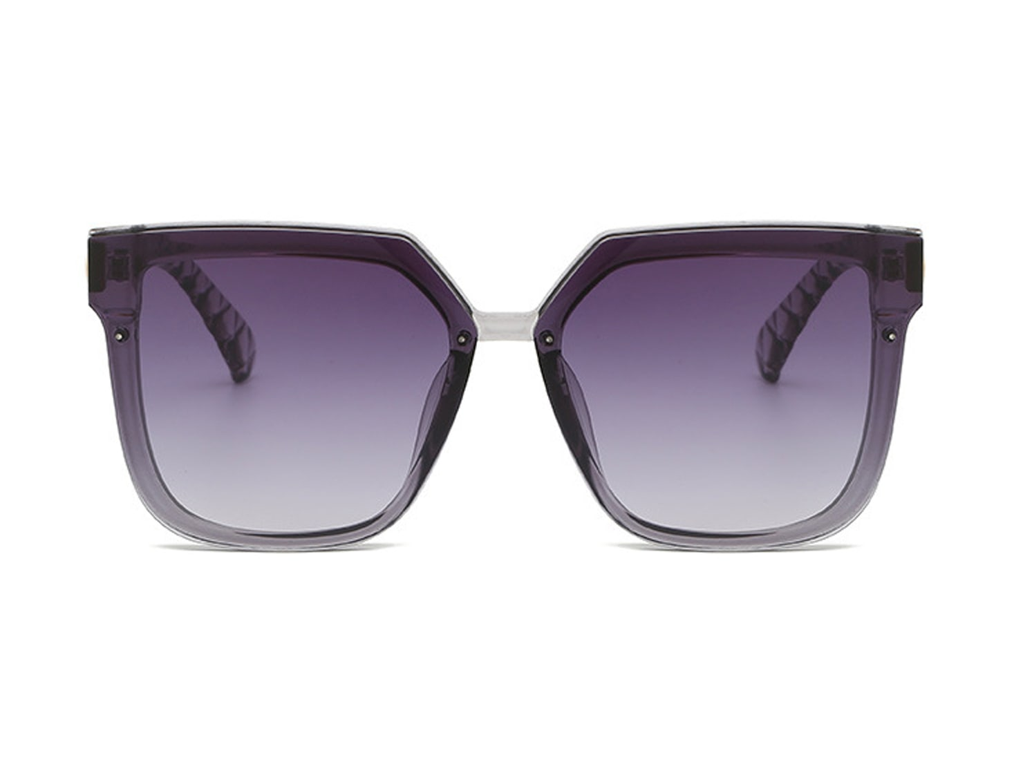 Trailblazer Cat-Eye Shades - Clear / Gradient Purple - Front