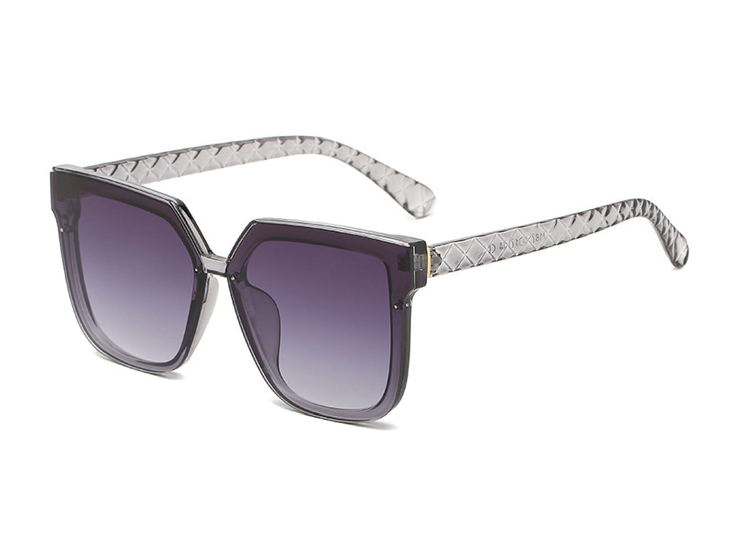 Trailblazer Cat-Eye Shades - Clear / Gradient Purple - Back