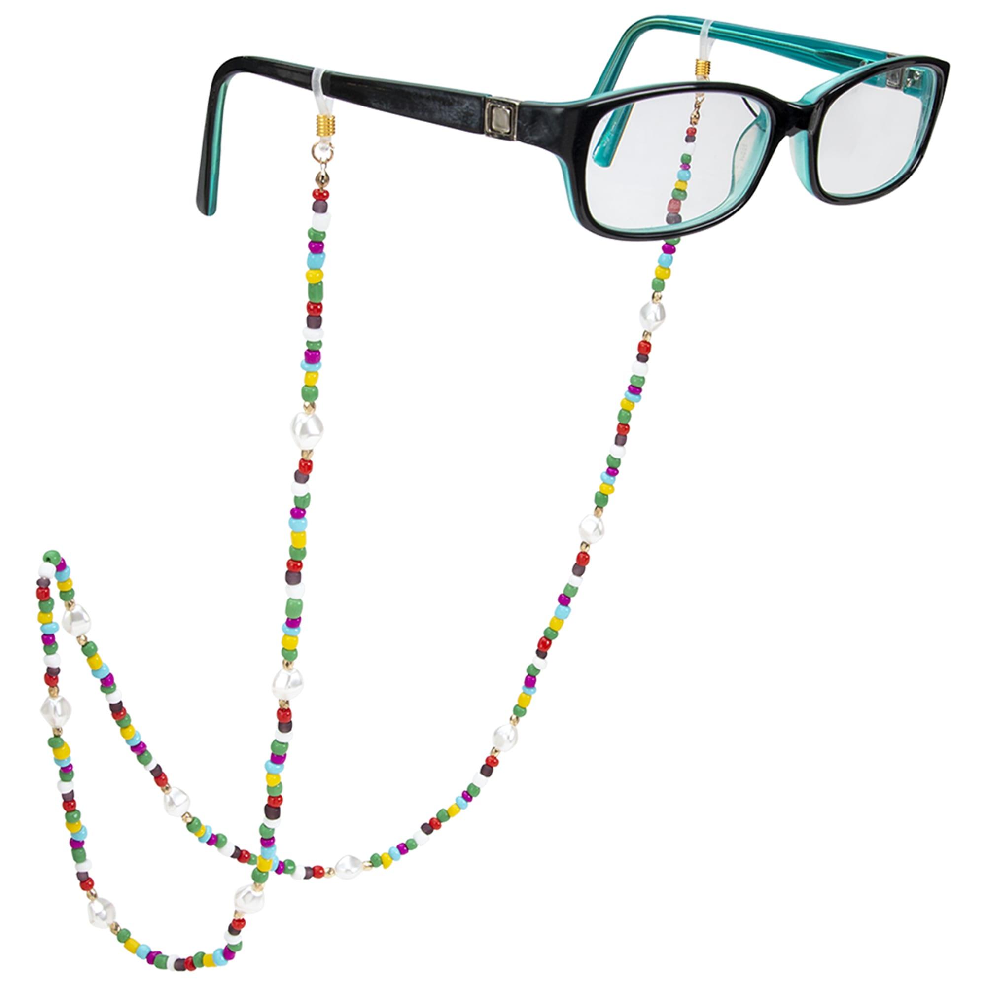 Rainbow Beaded Eyeglass/Sunglass Retainer - Rainbow - Front