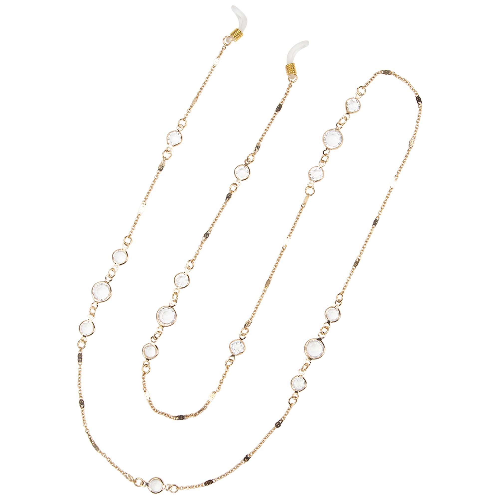 Fancy Droplet Gold Eyeglass/Sunglass Retainer - Gold - Back