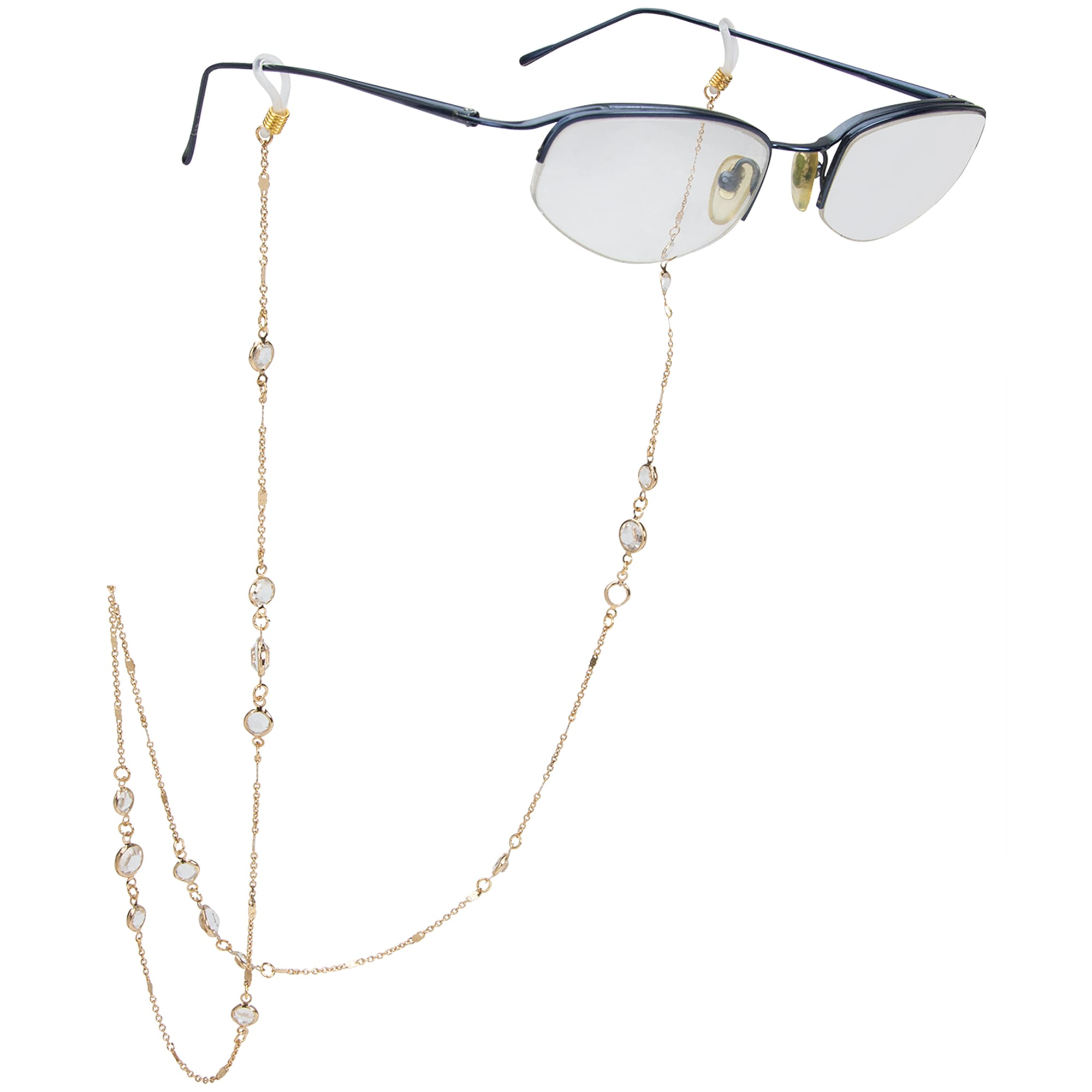 Fancy Droplet Gold Eyeglass/Sunglass Retainer - Gold - Front