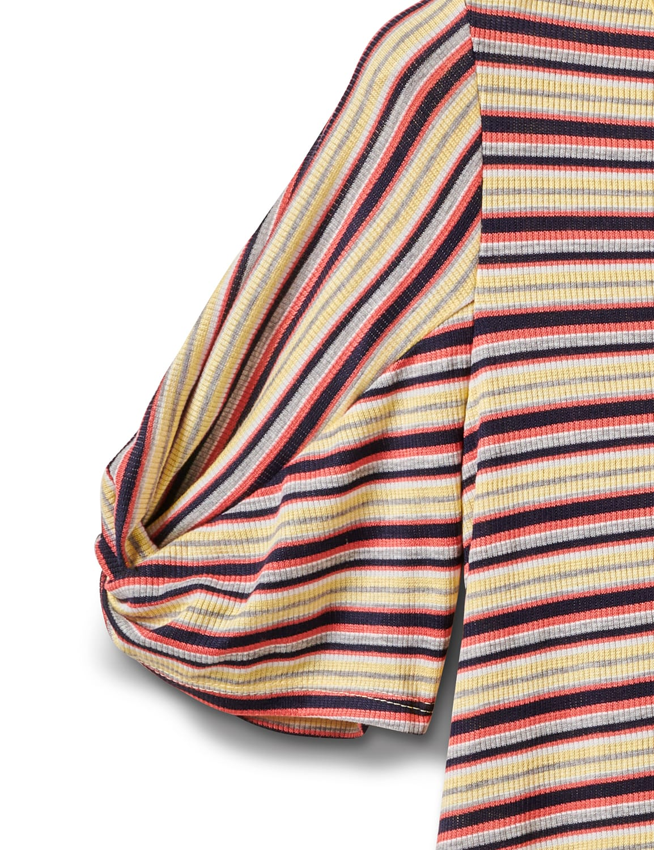 Rib Stripe Thermal Tee - Misses - Banana - Front