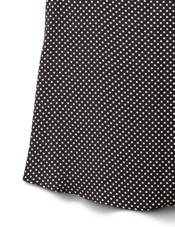 Dot Mix Media Knit Top - Black - Front