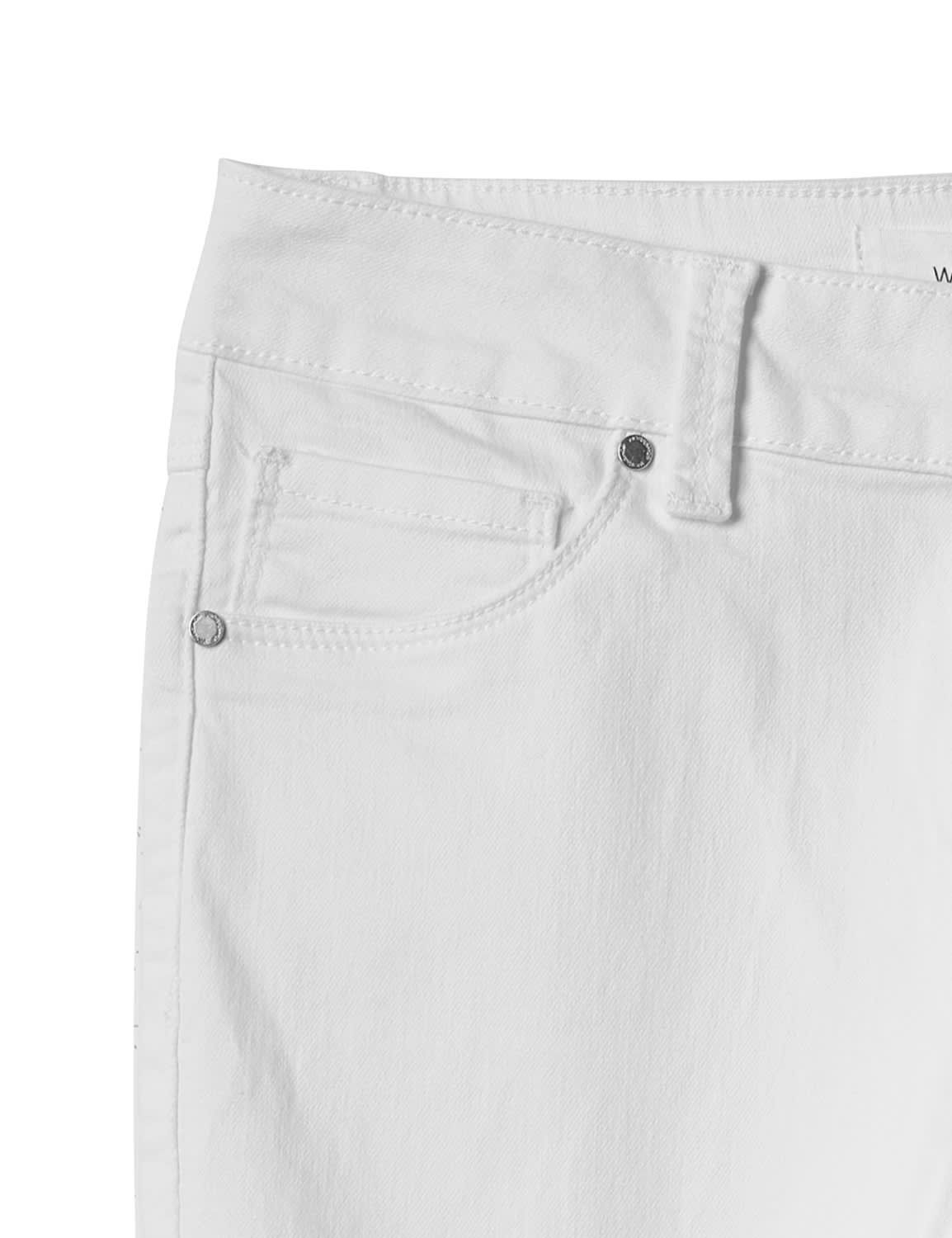 5 Pocket Skinny Ankle Jean - White - Front