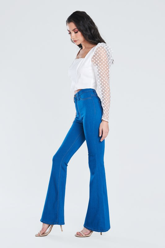 Perfect Fit Flare Jeans - PB - Front