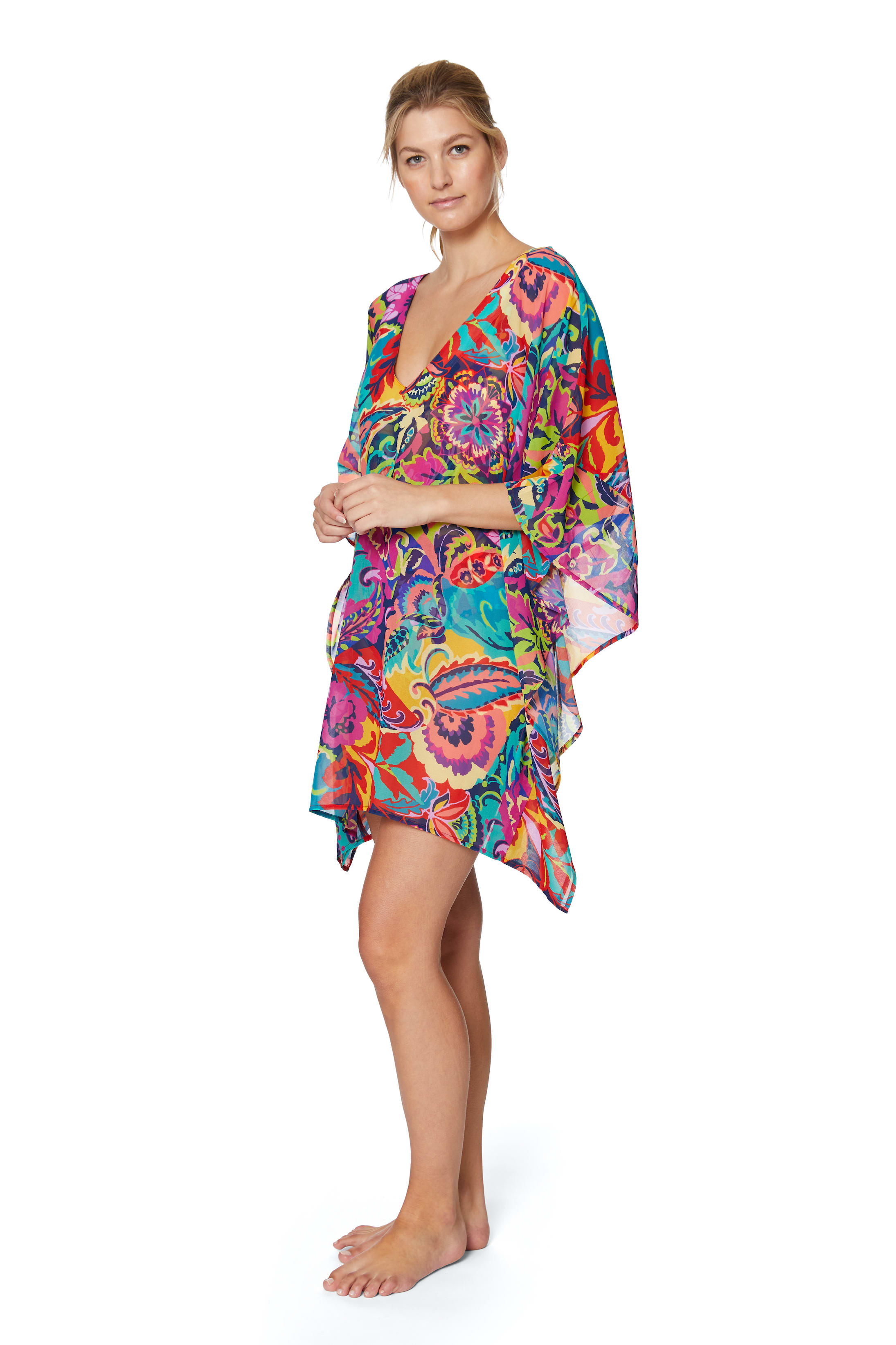 Tahari® Paris Floral Tunic Swimsuit Cover-Up - Multi - Front