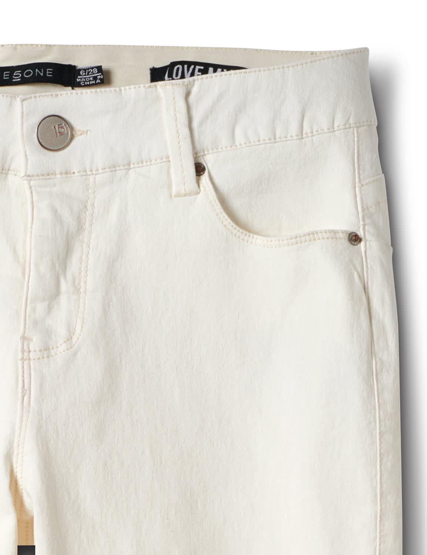 Mid Rise 5 Pocket Goddess Jean - Natural - Front