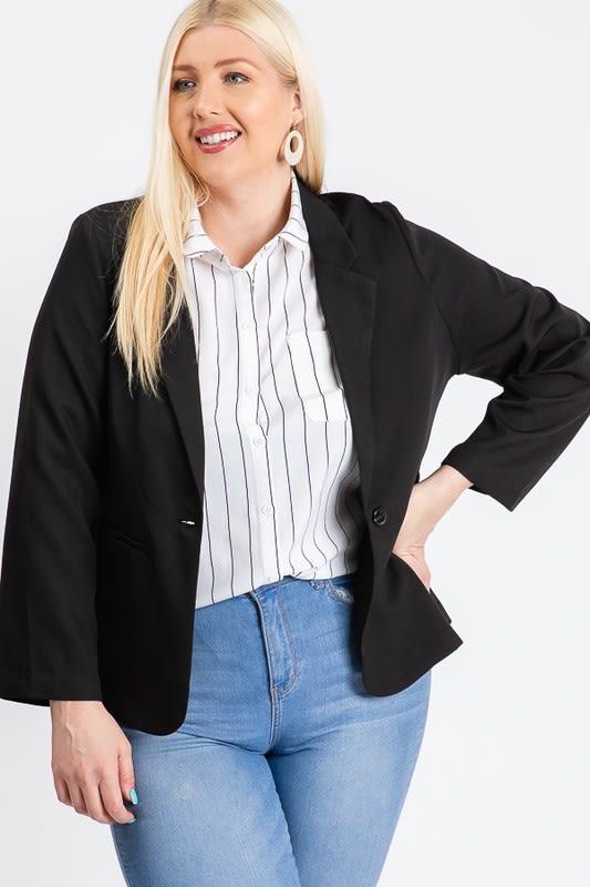That Formal Look Blazer - Black - Front