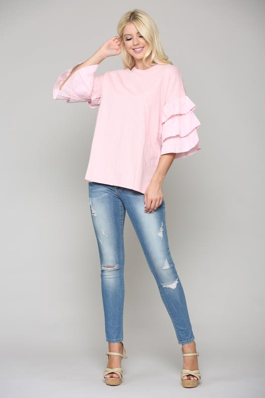 Camryn Top - Pink - Front