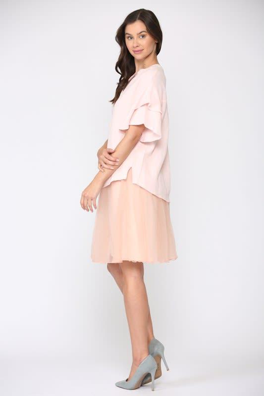 Gina Top - Pink - Front