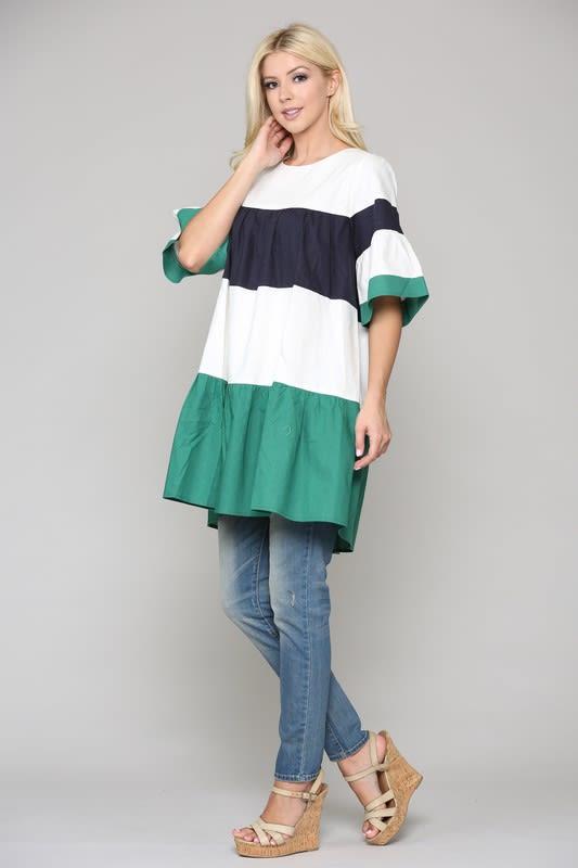 Lorena Tunic Dress - Multi - Front