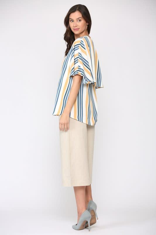 Windelle Stripe Top - Multi stripe - Front