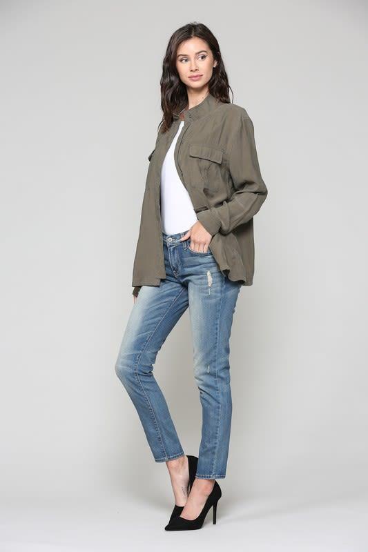 Talia Jacket - Olive - Front