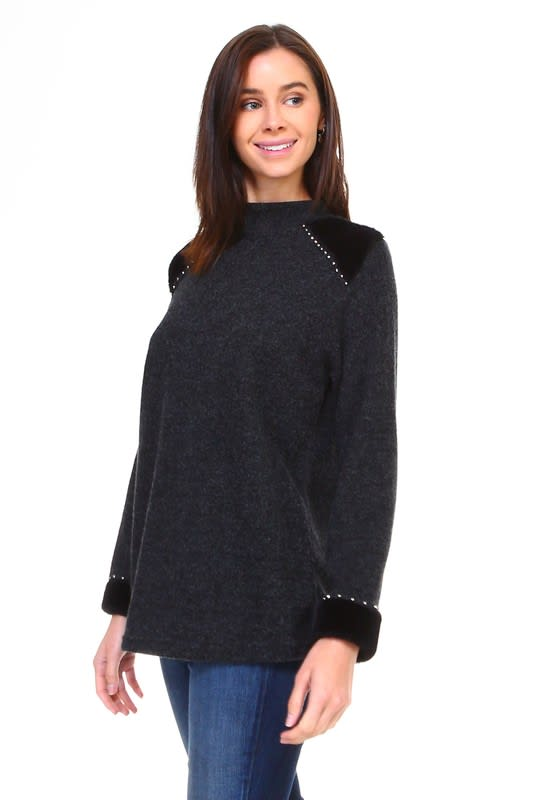 Hillary Top - Black - Front