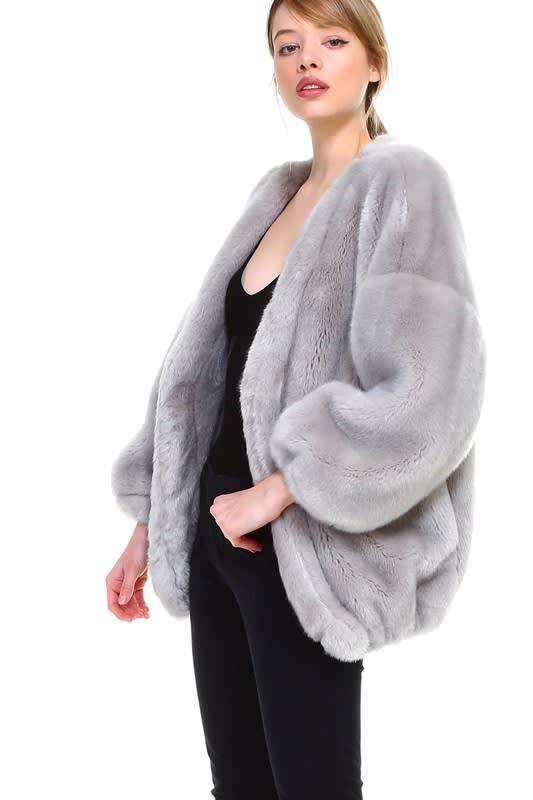 Raelene Jacket - Grey - Front