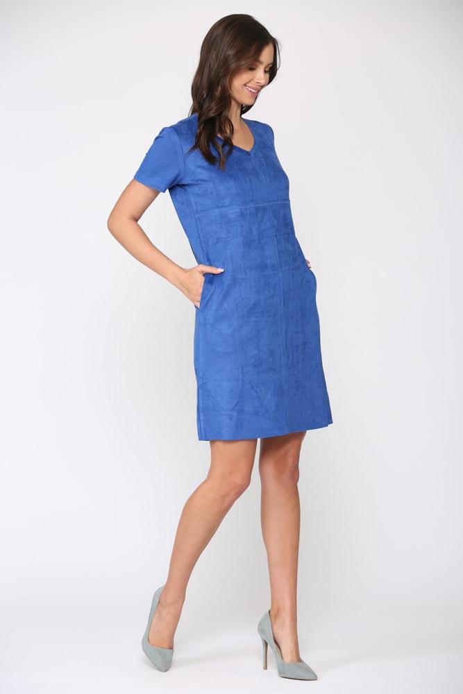 Audrey Tunic Dress - Cobalt - Front