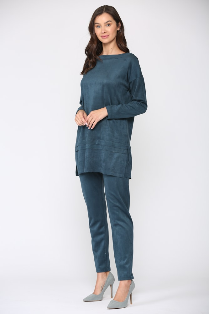April Tunic Top - Peacock - Front